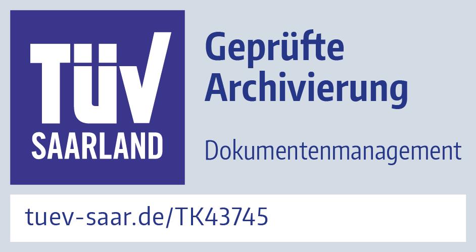 TÜV Saarland Geprüfte Archivierung