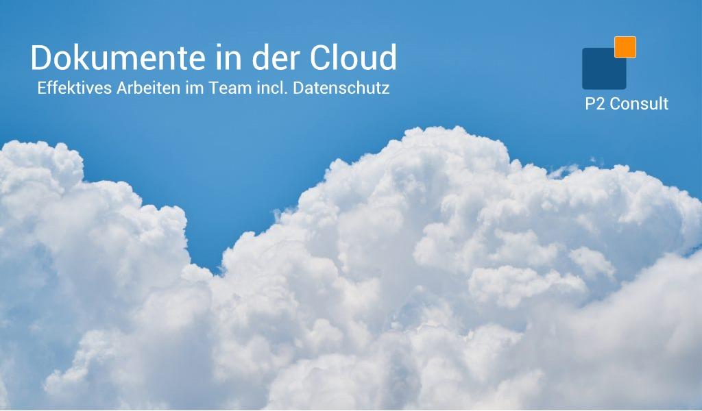 Dokumente in der Cloud (Datenschutz)