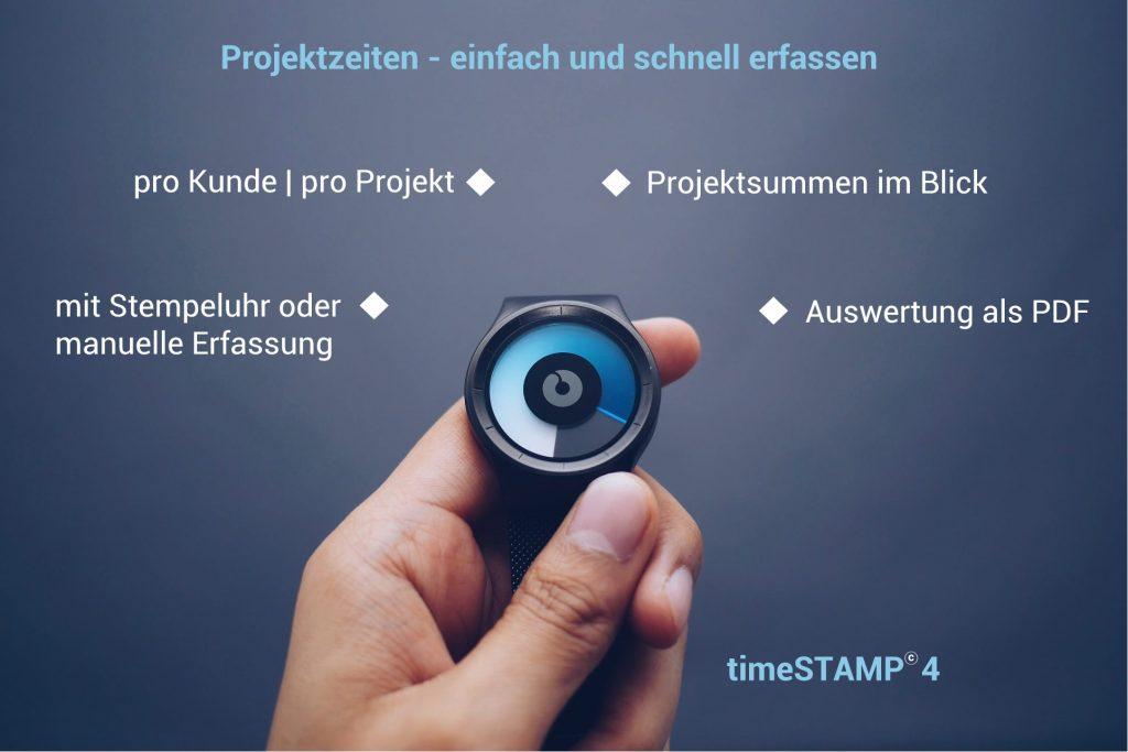 Projektzeiten timeSTAMP4